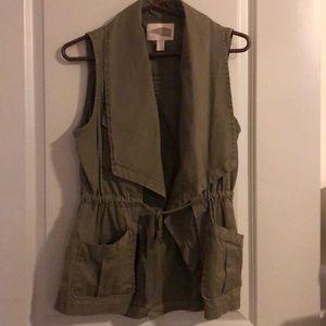 Olive green Forever 21 utility vest XS